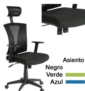 SILLA GERENTE PRAGA, IMPORTADA, GIRATORIA, ESPALDAR EN MALLA, BRAZOS AJUSTABLES EN ALTURA