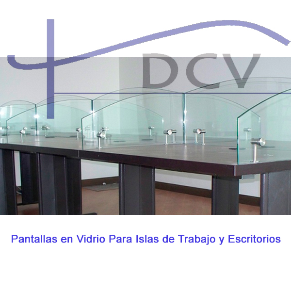 pantallas en vidrio para escritorios de oficina bogota colombia