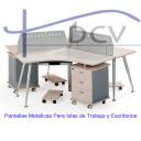 pantallas metalicas para division de escritorios de oficina bogota colombia