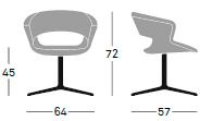 estructura giratoria silla de diseñador colombia