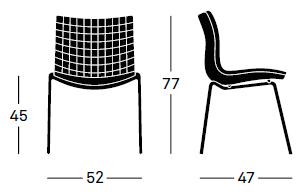 estrucutra silla plastica x3