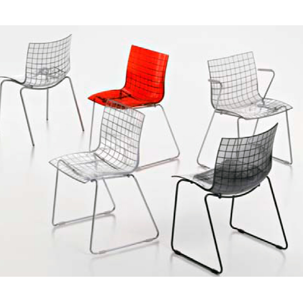 silla plastica de diseño x3