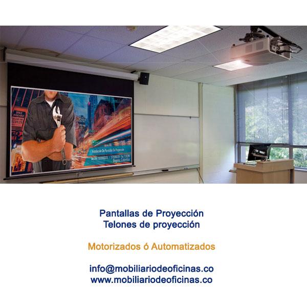 telones pantallas motorizados bogota colombia cundinamarca