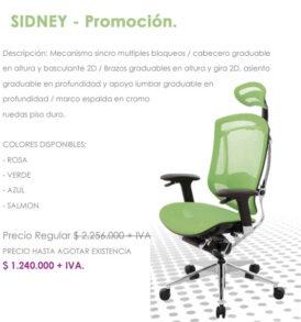 sillas ergonomicas en promocion, cundimanarca Bogotá colombia